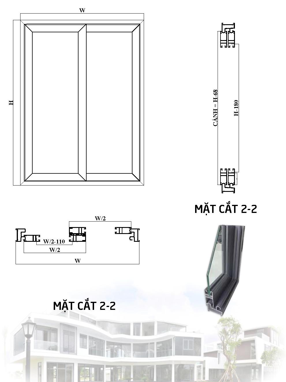 Cửa Nhôm Hệ PMA 55